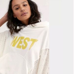 Free People | Sunny Days Mixed Print Hoodie